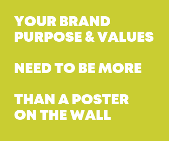brand purpose and values